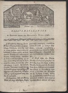 Gazeta Warszawska. R. 1780 Nr 35