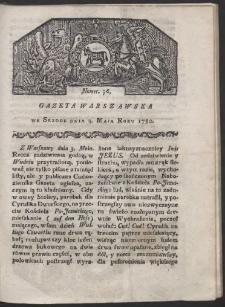 Gazeta Warszawska. R. 1780 Nr 36