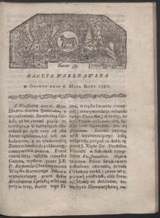 Gazeta Warszawska. R. 1780 Nr 37