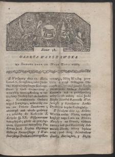 Gazeta Warszawska. R. 1780 Nr 38