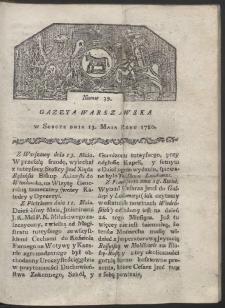 Gazeta Warszawska. R. 1780 Nr 39