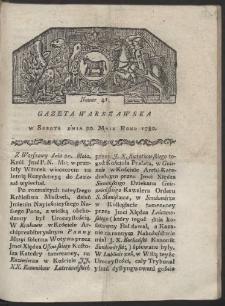Gazeta Warszawska. R. 1780 Nr 41