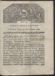 Gazeta Warszawska. R. 1780 Nr 43