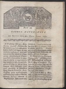 Gazeta Warszawska. R. 1780 Nr 44