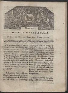 Gazeta Warszawska. R. 1780 Nr 45