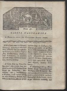 Gazeta Warszawska. R. 1780 Nr 47