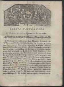 Gazeta Warszawska. R. 1780 Nr 48