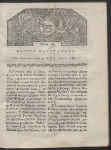 Gazeta Warszawska. R. 1780 Nr 54