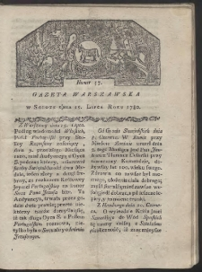 Gazeta Warszawska. R. 1780 Nr 57