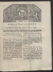 Gazeta Warszawska. R. 1780 Nr 59
