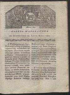 Gazeta Warszawska. R. 1780 Nr 60