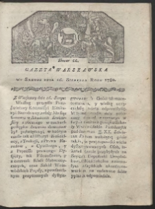 Gazeta Warszawska. R. 1780 Nr 66