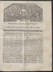 Gazeta Warszawska. R. 1780 Nr 69