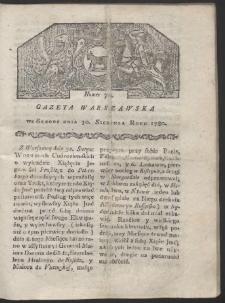 Gazeta Warszawska. R. 1780 Nr 70