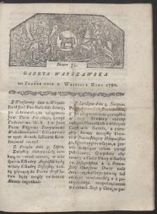 Gazeta Warszawska. R. 1780 Nr 71