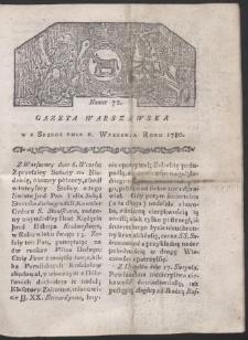 Gazeta Warszawska. R. 1780 Nr 72