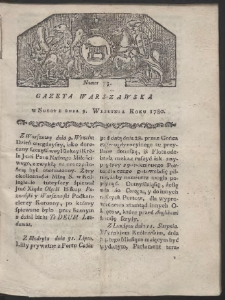 Gazeta Warszawska. R. 1780 Nr 73