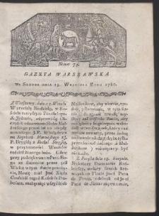 Gazeta Warszawska. R. 1780 Nr 74
