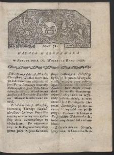 Gazeta Warszawska. R. 1780 Nr 75