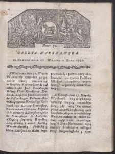 Gazeta Warszawska. R. 1780 Nr 76
