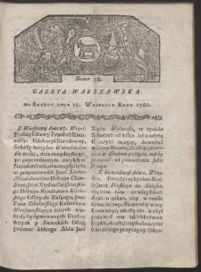 Gazeta Warszawska. R. 1780 Nr 78