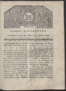 Gazeta Warszawska. R. 1780 Nr 79