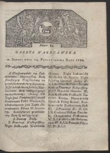 Gazeta Warszawska. R. 1780 Nr 83