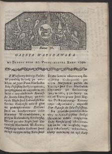Gazeta Warszawska. R. 1780 Nr 86