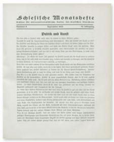 Schlesische Monatshefte : Blätter für Nationalsozialistische Kultur des Deutschen Südostens. 10. Jahrgang, September 1933, Nummer 9