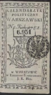 Kalendarzyk Polityczny Warszawski Na Rok 1781