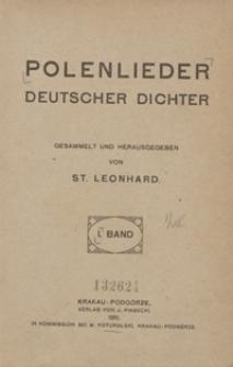 Polenlieder deutscher Dichter : der Novemberaufstand in den Polenliedern deutscher Dichter. I. Band