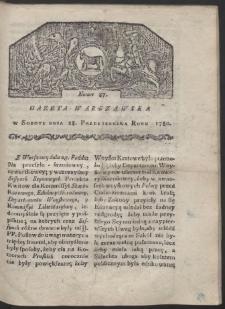 Gazeta Warszawska. R. 1780 Nr 87