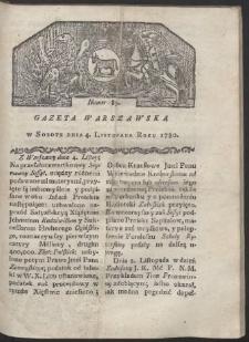 Gazeta Warszawska. R. 1780 Nr 89