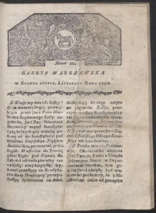 Gazeta Warszawska. R. 1780 Nr 91