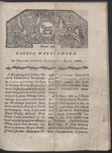 Gazeta Warszawska. R. 1780 Nr 92