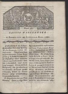 Gazeta Warszawska. R. 1780 Nr 95