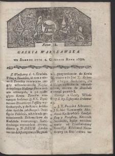 Gazeta Warszawska. R. 1780 Nr 98