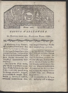 Gazeta Warszawska. R. 1780 Nr 100