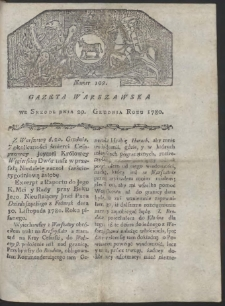 Gazeta Warszawska. R. 1780 Nr 102