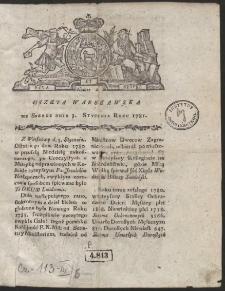 Gazeta Warszawska. R.1781 Nr 1