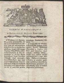 Gazeta Warszawska. R.1781 Nr 2