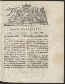 Gazeta Warszawska. R.1781 Nr 4