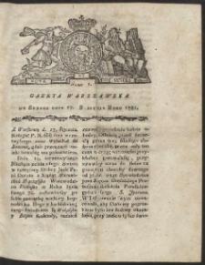 Gazeta Warszawska. R.1781 Nr 5