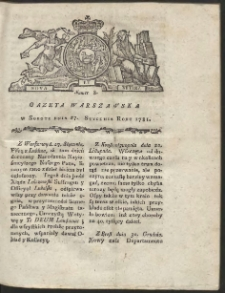 Gazeta Warszawska. R.1781 Nr 8