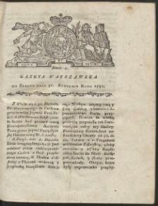 Gazeta Warszawska. R.1781 Nr 9