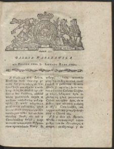 Gazeta Warszawska. R.1781 Nr 11