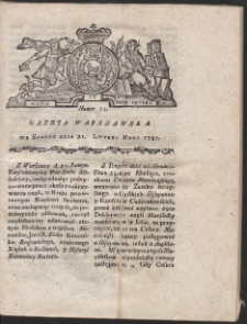 Gazeta Warszawska. R.1781 Nr 15