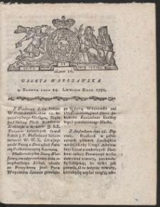 Gazeta Warszawska. R.1781 Nr 16