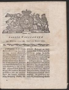Gazeta Warszawska. R.1781 Nr 17