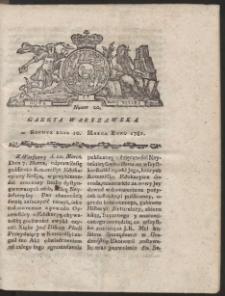 Gazeta Warszawska. R.1781 Nr 20